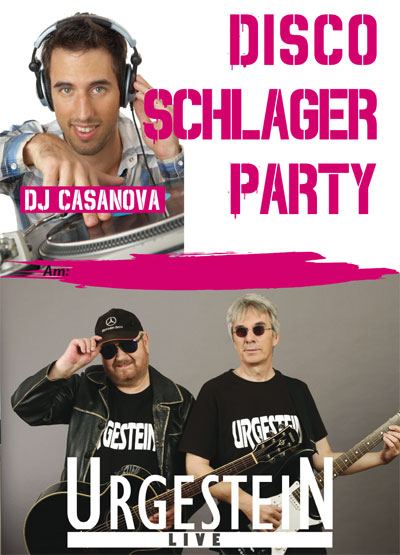 Das Plakat zur Sisco Schlaer Party